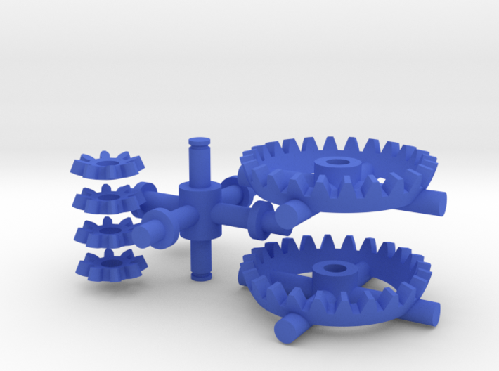 Multiplicator Gears and Axes - Kid Edition 3d printed