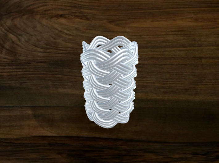 Turk's Head Knot Ring 11 Part X 6 Bight - Size 0 3d printed
