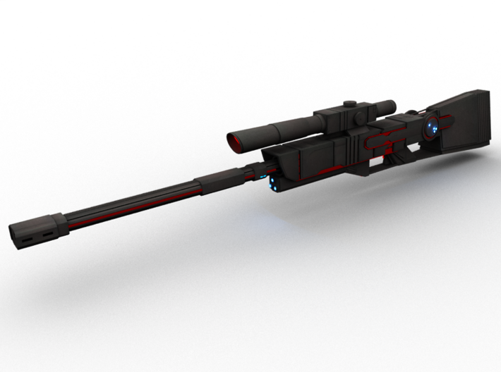 Futuristic Sniper Rifle 3d printed Add a caption...