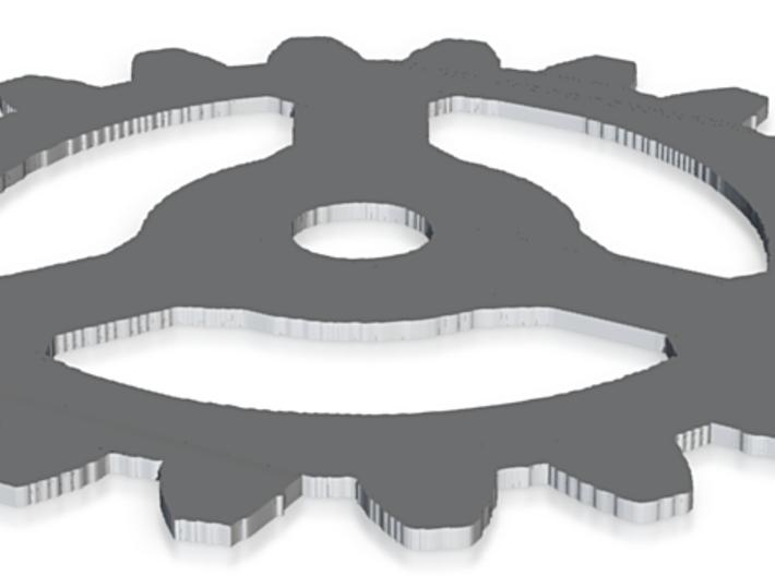 gear thin 3d printed