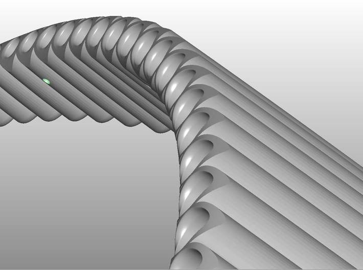 Right handed Jazz Standard wholetone Panflute 3d printed