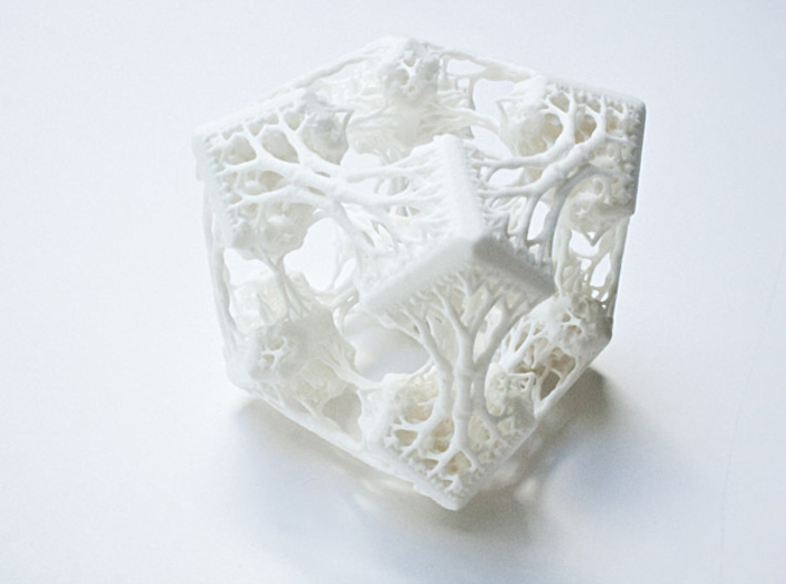 Cubic Woods - Fractal Sculpture & Light Cave 3d printed