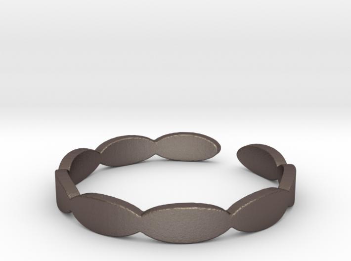 Banded Circles (Size 7) 3d printed