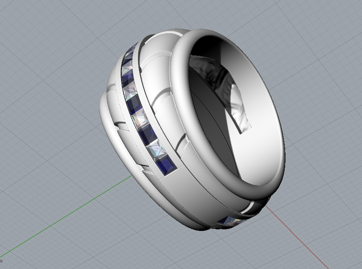Ring of Africa - Size 12 (21.49 mm) 3d printed
