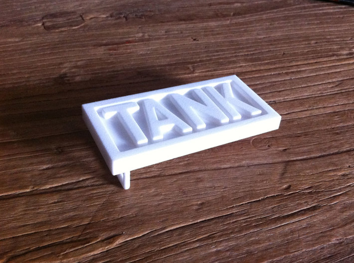 TANK belt buckle 3d printed First print in WS&F