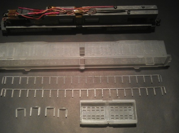 EMD DD35 N Scale 1:160 3d printed DD35 Kit With Chassis