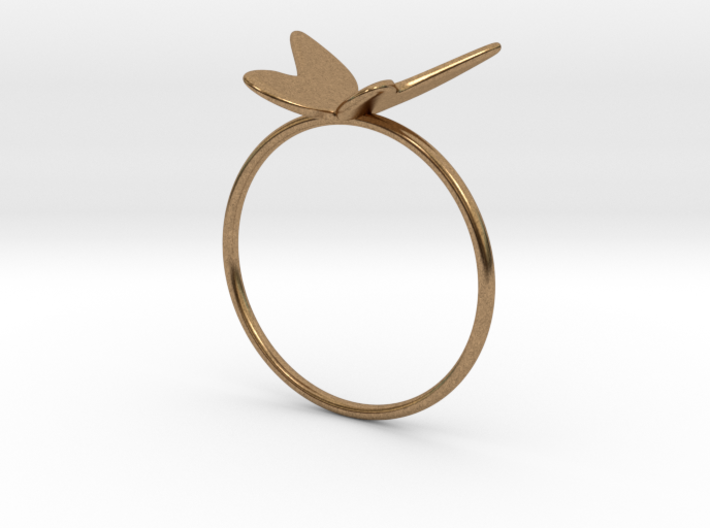 Butterfly Ring (size 7 US) 3d printed