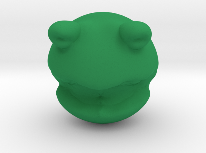 Rolly Polly Kermit Head 3d printed