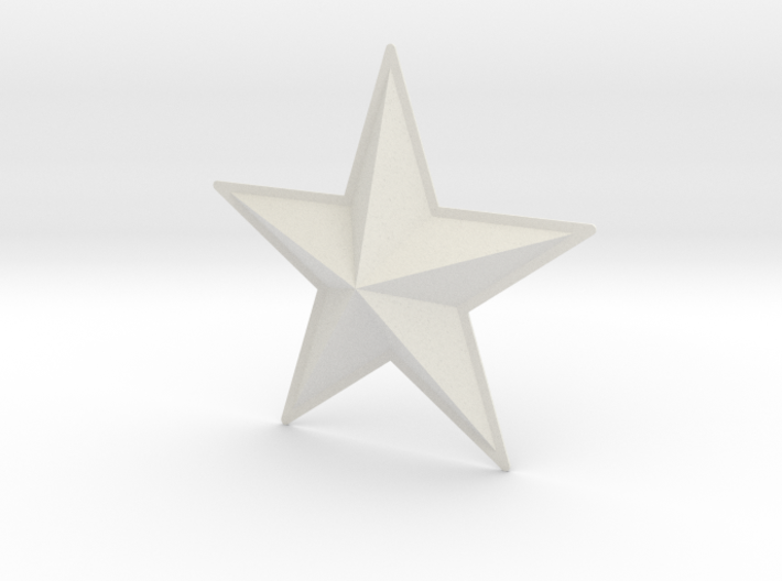 Captain America: TFA Chest Star 3d printed
