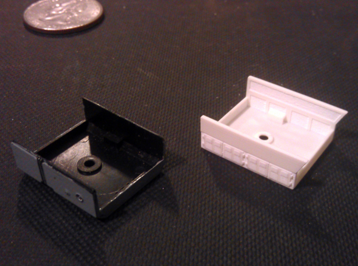 GE Gas Turbine Battery Box - (N Scale) 1:160 3d printed New And Old Battery Box Before