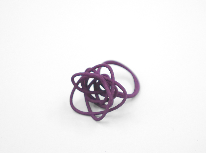 Sprouted Spiral Ring (Size 8) 3d printed Eggplant (Custom Dyed Color)