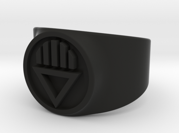 Black Death GL Ring Sz 10 3d printed