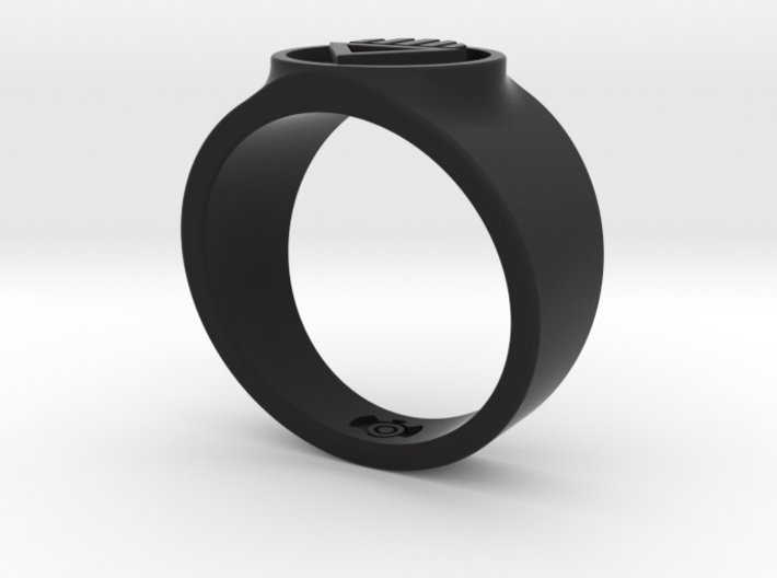 Black Death GL Ring Sz 14 3d printed