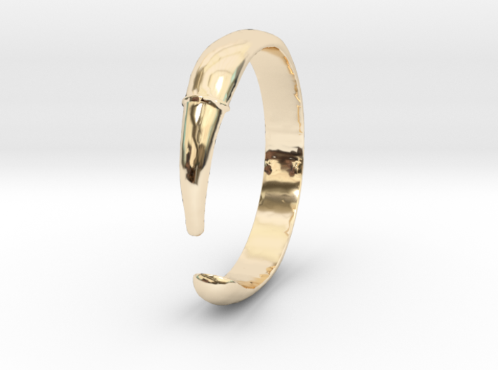 Single Claw Ring - Sz. 5 3d printed