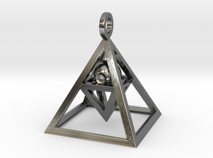 Sight of Pyramid Pendant Mini 3d printed