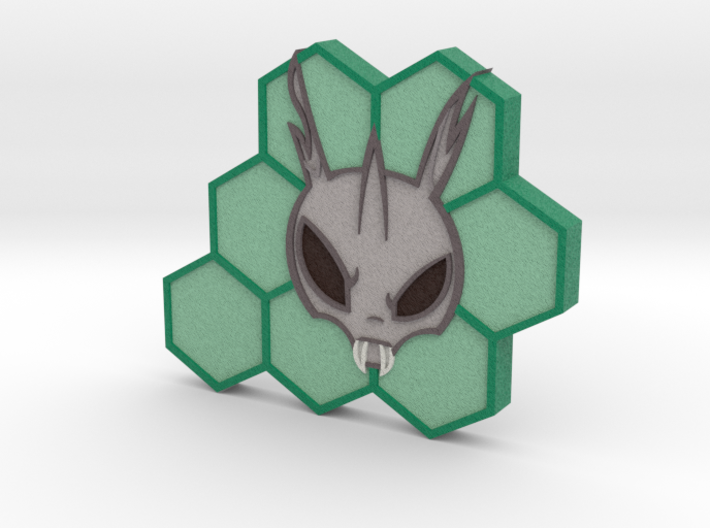 Hive Radio Full Color Token 3d printed