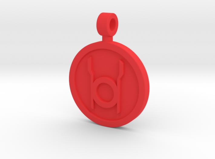 Red Rage Pendant 3d printed