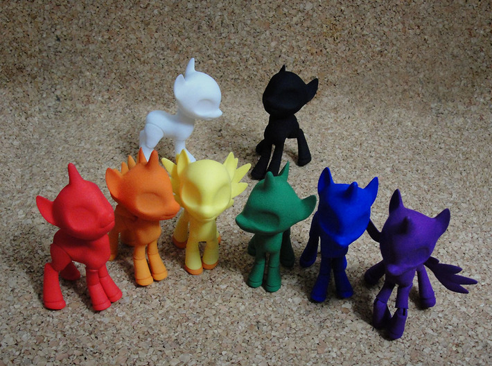Unicorn BJD Pony: small version 3d printed