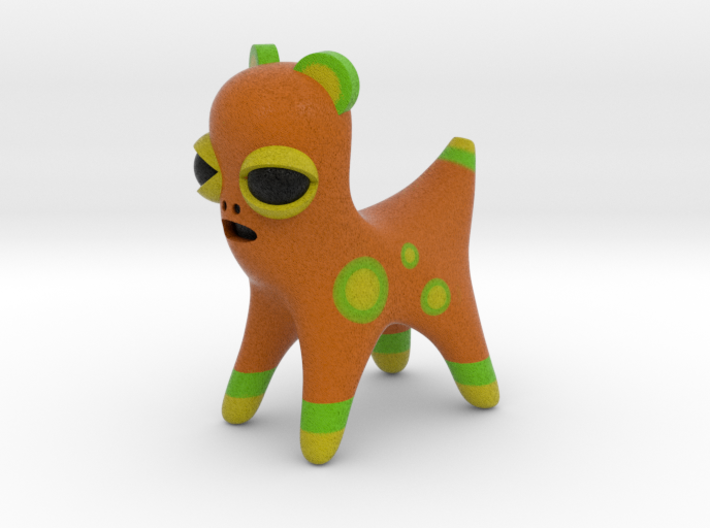 Orange Spotted Animal 3d printed