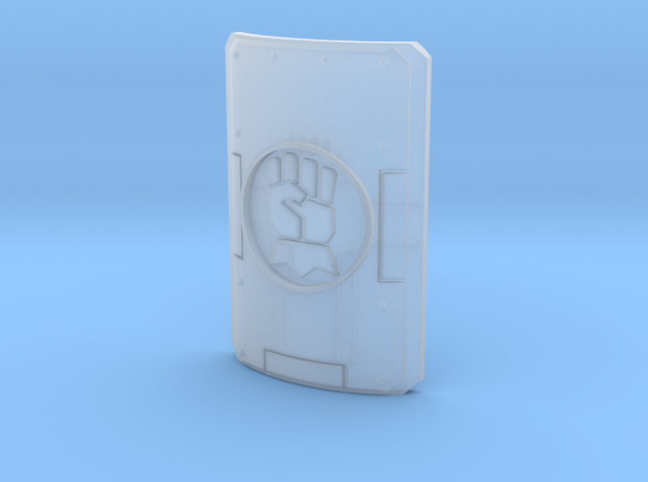 1 shield with gauntlet motif 3d printed
