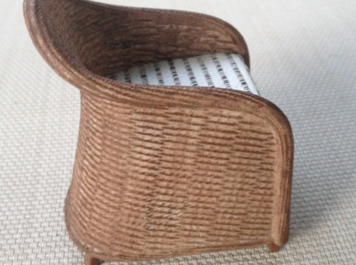 1:12 Chair Wicker 3d printed
