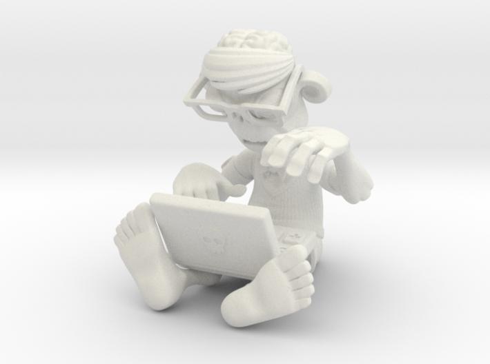 Brainz the Techno Zombie 3d printed