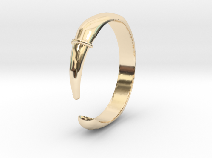 Single Claw Ring - Sz. 9 3d printed