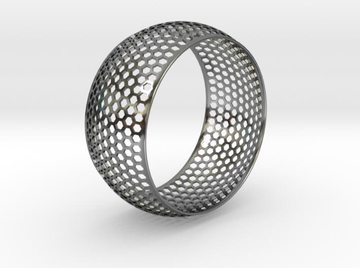 Horizontal Honey Comb Rounded Bracelet 3d printed