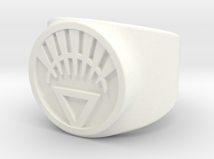 White Life Ver 2 GL Ring Sz 5 3d printed