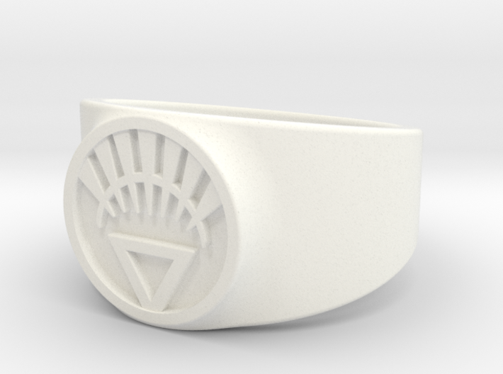 White Life Ver 2 GL Ring Sz 15 3d printed