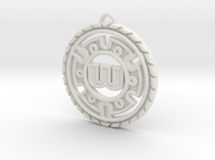 Stylish Personalized Initial Pendant 3d printed