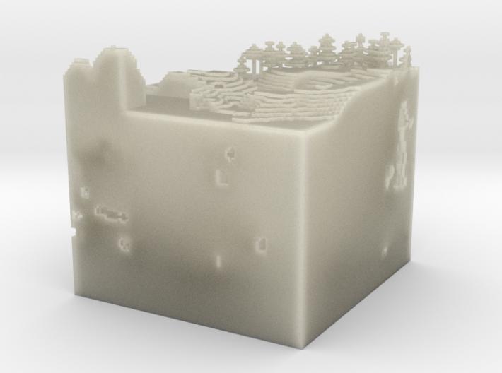 Slice Of Minecraft.obj 3d printed