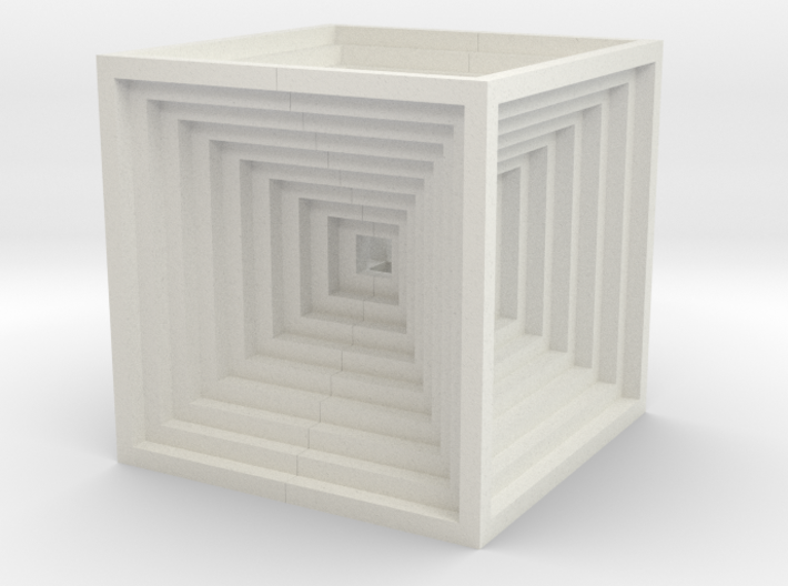 Hypercube Impossible Cube sculpture Large 3d printed