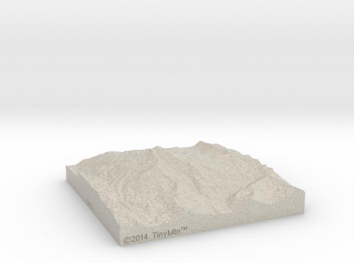 4'' Mt. Jefferson, Oregon, USA, Sandstone 3d printed