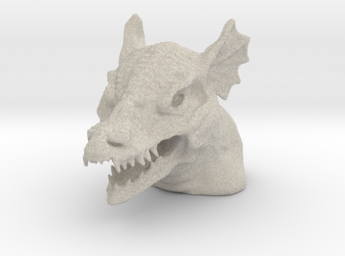 Dragon Bust - Reduced Material Version 3d printed