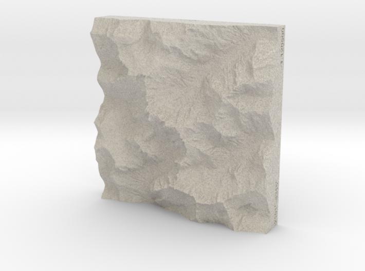 4'' Picket Range, Washington, USA, Sandstone 3d printed