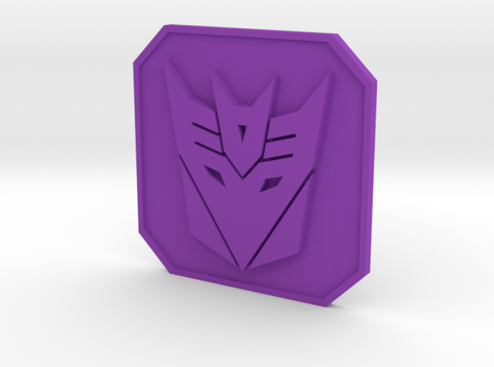 Decepticon badge 3d printed