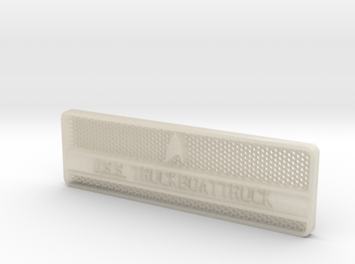 TruckBoatTruck Badge 3d printed