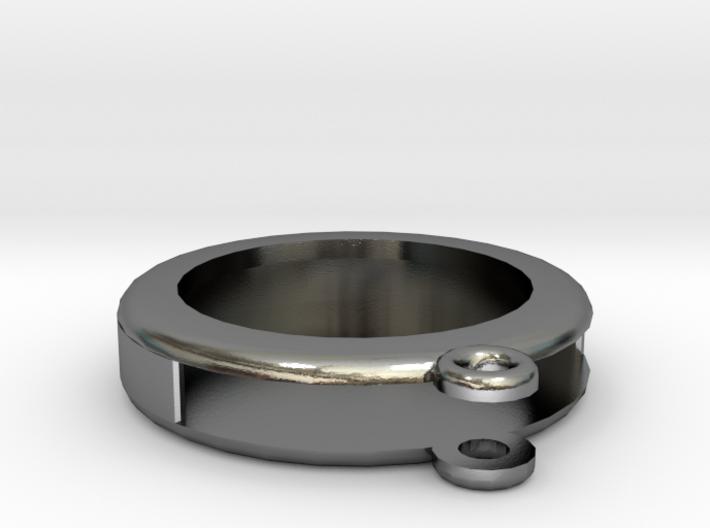 Circular Frame Pendant 3d printed