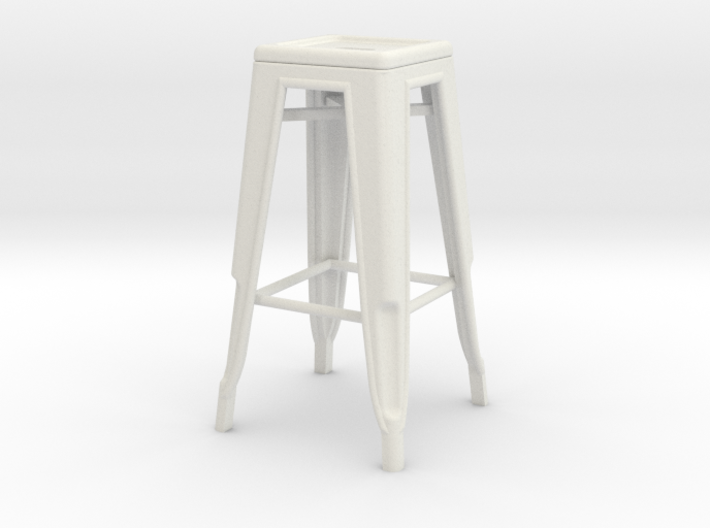 1:24 Tall Pauchard Stool 3d printed