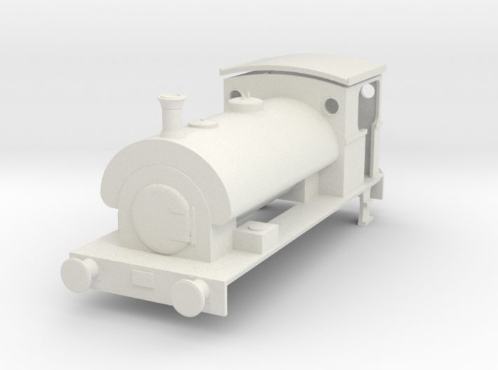 4mm Scale Peckett W6 - Dapol Pug Chassis 3d printed
