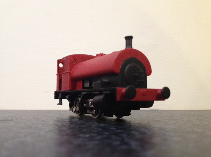 4mm Scale Peckett W6 - Dapol Pug Chassis 3d printed Completed model without roof