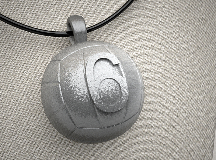 Volleyball Pendant #6 3d printed