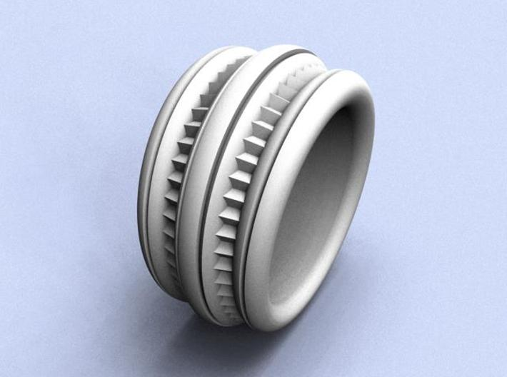 Stairway to Heaven Ring - Size 12 (21.49 mm) 3d printed
