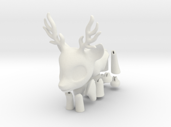 Small Deerling BJD Doll 3d printed
