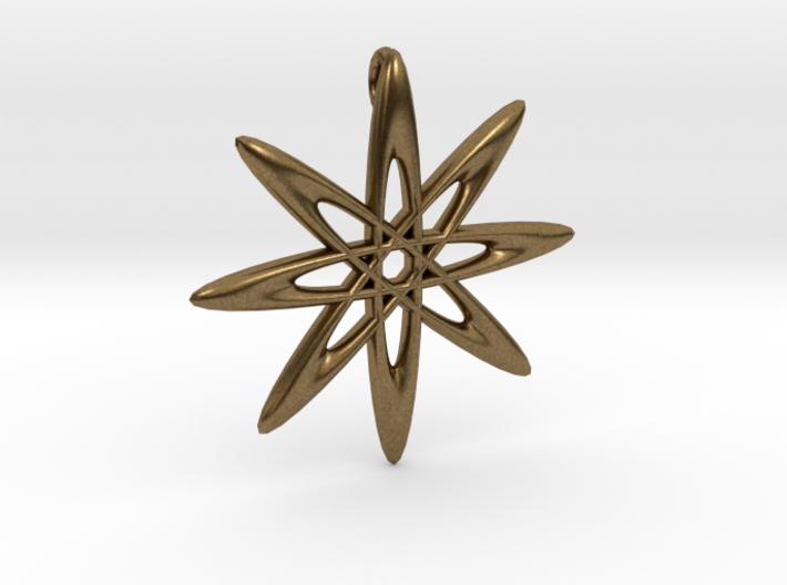 Atomic Pendant 3d printed