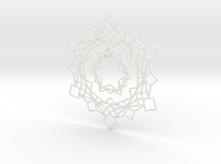 Squares Snowflake Ornament 3d printed