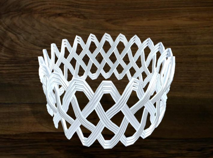 Turk's Head Knot Ring 4 Part X 20 Bight - Size 26. 3d printed