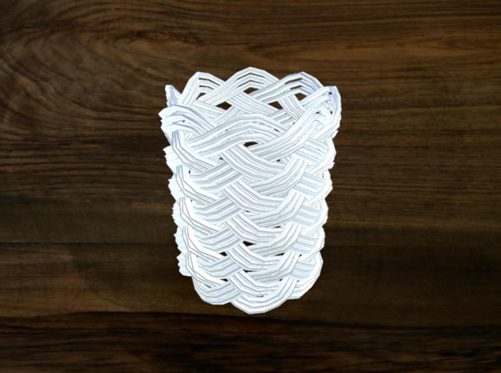 Turk's Head Knot Ring 12 Part X 8 Bight - Size 6.2 3d printed