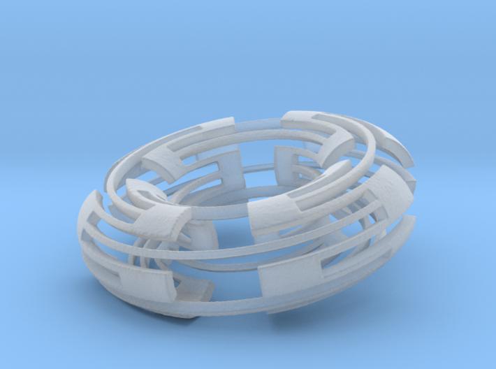 Greek Square Torus 3d printed
